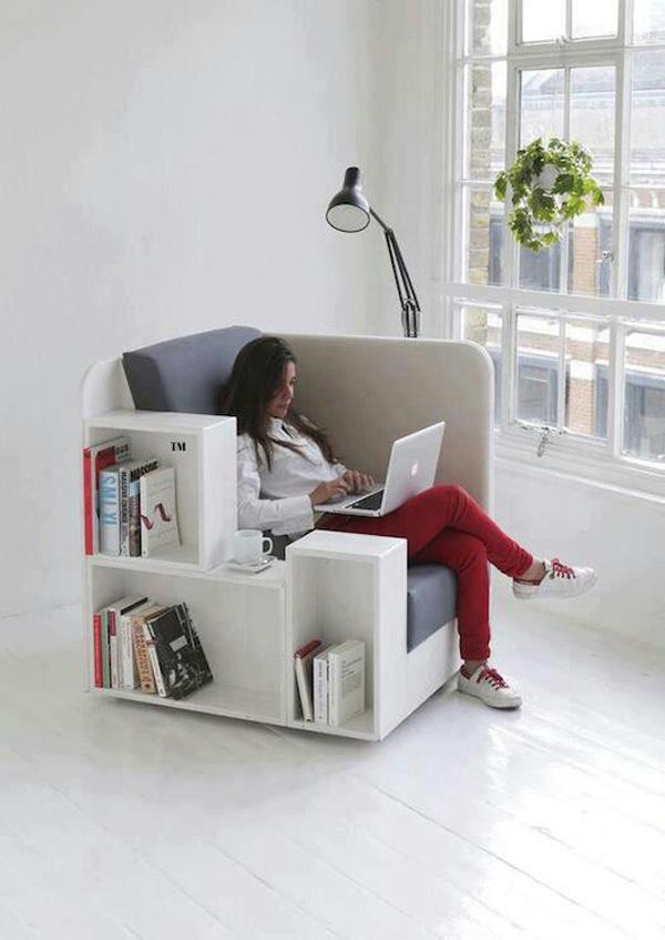Studio tilt bookcase chair
